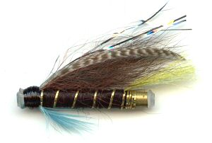 The Blue Charm One Inch Plastic Salmon and Steelhead Tube Fly