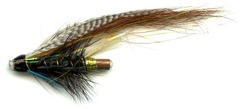 The Blue Charm One Inch Copper Salmon and Steelhead Tube Fly