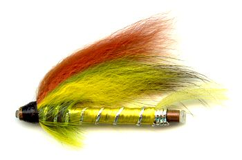 The Green Highlander 1 1/2 Inch Copper Salmon and Steelhead Tube Fly