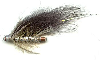 The Norwegian Silver and Grey 1 inch Copper Salmon and Steelhead Tube Fly