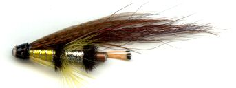 The Yellow Torrish 1 Inch Copper Salmon and Steelhead Tube Fly