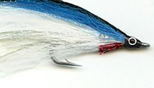 White and Blue Lefty's Deceiver fly pattern
