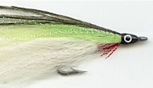 White and Chartreuse Lefty's Deceiver fly pattern