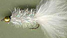 White Crystal Woolly Bugger fly pattern