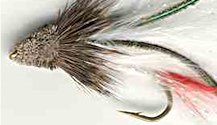 White Marabou Muddler Minnow Streamer fly pattern