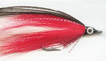 White and Red Lefty's Deceiver fly pattern