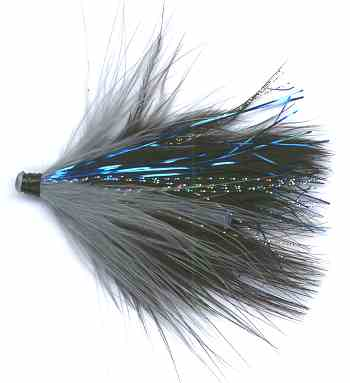 Black and Blue Alaskabou Tube Fly fishing pattern for steelhead