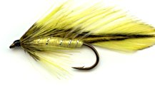 Yellow Badger Matuka Streamer fly pattern