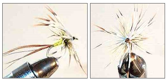 Yellow French Partridge Mayfly Spinner