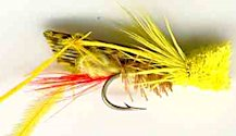 Yellow Hopper Dry fly pattern
