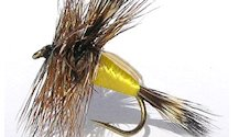 Yellow Humpy Rough Water Attractor Dry fly pattern