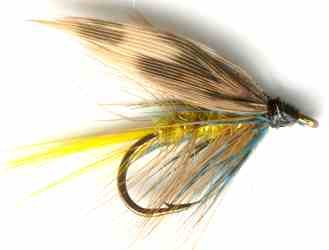 Yellow Invicta Caddis Sedge Wet trout Fly fishing pattern