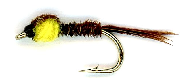 The Yellow Pheasant Tail Nymph Fly