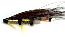 Yellow Torrish 1 1/2 Inch Plastic Salmon Tube fly pattern