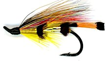 Yellow Torrish Salmon Single Hook fly pattern