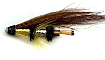 Yellow Torrish 1 Inch Copper Salmon Tube fly pattern